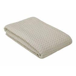 Narzuta na sofę FERNIE z gofrową fakturą – bawełna – 230 × 250 cm – kolor beżowy