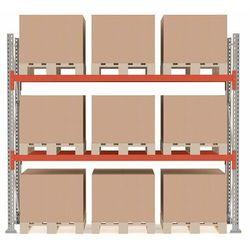 Regał paletowy ULTIMATE, moduł podstawowy, 2500x2750x1100 mm, 9 palet, 500kg/paleta