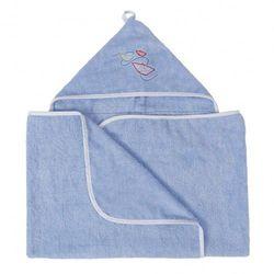 Niebieskie okrycie kąpielowe 70x140 ręcznik z kapturkiem MAXI JUNIOR