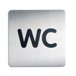 Oznaczenie toalet metalowe kwadratowe - WC