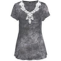 Bluzki dziecięce, Shirt z długim rękawem i plisą guzikową (2 szt.) bonprix kobaltowo-biały + kobaltowy