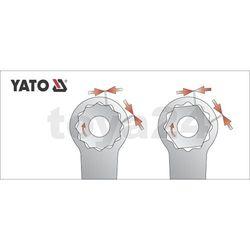 Klucz oczkowy odgięty z polerowaną główką 20x22 mm Yato YT-0390 - ZYSKAJ RABAT 30 ZŁ
