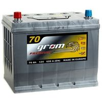 Akumulatory samochodowe, Akumulator GROM Premium 70Ah 620A Japan Lewy plus