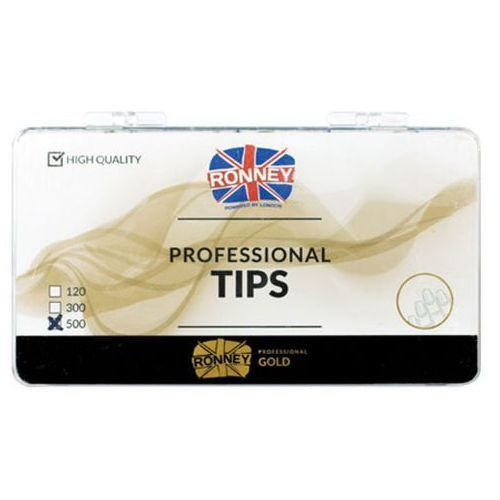 Tipsy, Ronney PROFESSIONAL TIPS FRENCH WHITE-BLUE Tipsy french z małą kieszonką, biało-niebieskie (500 szt.)