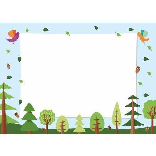 Tablice szkolne, Tablica magnetyczna suchościeralna dla dzieci las, ptaki 526