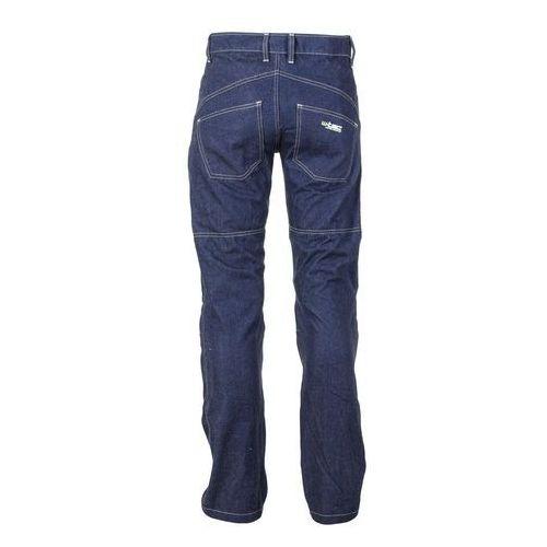Spodnie motocyklowe damskie, Spodnie motocyklowe damskie jeansowe z kevlarem W-TEC NF-2990, Ciemny niebieski, S