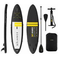 Pozostałe sporty wodne, Deska SUP - dmuchana - Balance Line - czarna - 145 kg
