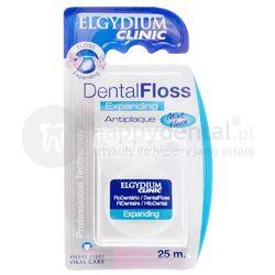 ELGYDIUM Dental Floss Expanding pęczniejąca nić dentystyczna 25m (biała)