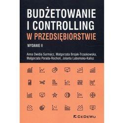 Budżetowanie i controlling w przedsiębiorstwie - Surmacz Anna Owidia, Brojak-Trzaskowska Małgorzata, Porada-Rochoń Małgorzata (opr. broszurowa)