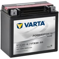 Akumulatory do motocykli, Varta Akumulator AGM 12 V 18 Ah YTX20-4 / YTX20-BS Darmowa wysyłka i zwroty
