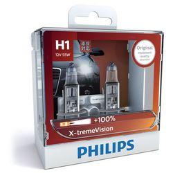 Philips X-tremeVision + 100% H1 reflektor lampy 12258 X VS2, zestaw -częściowy (ograniczony czas + 130%)