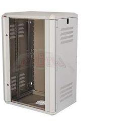 """Szafa wisząca rack 19"""" 21Ux600x600 IP30 Ściany boczne otwierane Drzwi z szybą RAL 7035 szary SIDE-O19-21U-60-DS-S"""