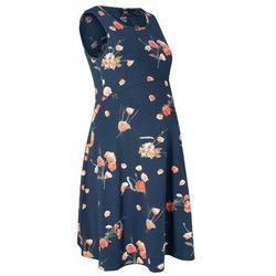Sukienka shirtowa ciążowa w kwiaty bonprix ciemnoniebieski w kwiaty