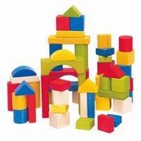 Zabawki z drewna, Woody Kolorowe drewniane klocki, 50 sztuk - BEZPŁATNY ODBIÓR: WROCŁAW!