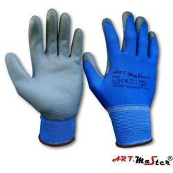 Rękawice robocze - ochronne z niebieskiego poliestru RnyPuBlue kat.2 10
