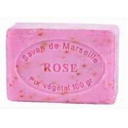 Mydło marsylskie 100 g Płatki róży olej ze skłodkich migdałów - Le Chatelard 1802