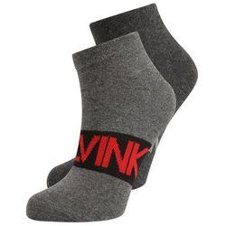 Calvin Klein Underwear LOGO 2 PACK Skarpety charcoal heather/black