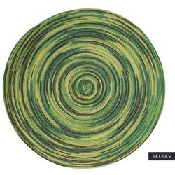 SELSEY Podkładka pod talerz Karrins okrągła średnica 38 cm zielona