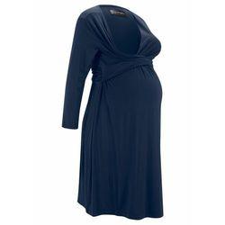 Sukienka ciążowa i do karmienia LENZING™ ECOVERO™ bonprix ciemnoniebieski