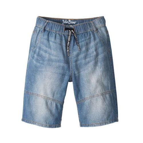 """Krótkie spodenki dziecięce, Bermudy dżinsowe bonprix niebieski """"stone"""""""