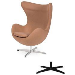 Fotel Jajo EGG CLASSIC - 3 kolory nóżek - wełna - Pralinowy beżowy