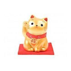 Figurka Maneki Neko - Złoty