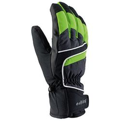 Rękawice narciarskie Viking Biset - czarno-szaro-zielony viking (-28%)