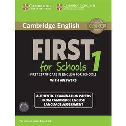Cambridge English First for Schools 1. Podręcznik z Kluczem + CD (opr. miękka)