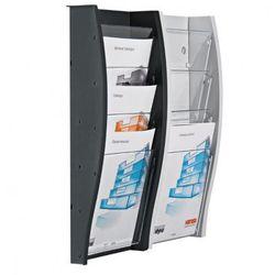 Plastikowy uchwyt ścienny na ulotki, format DL (1/3 A4)