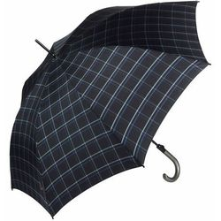 Knirps T.703 stick automatic Parasol na kiju, długi 88 cm check black & blue ZAPISZ SIĘ DO NASZEGO NEWSLETTERA, A OTRZYMASZ VOUCHER Z 15% ZNIŻKĄ