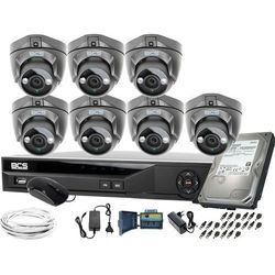 ZM11955 7 kamer monitoringu BCS BCS-DMQE1500IR3-G + Rejestrator BCS-XVR08014KE-II 1TB