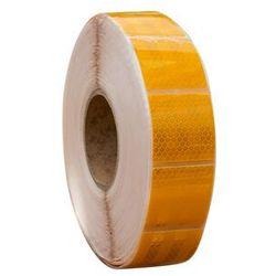 Taśma odblaskowa konturowa żółta w segmentach - 1 metr