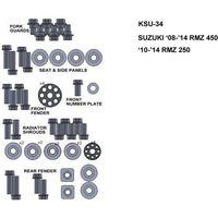 Pozostałe akcesoria do motocykli, ZESTAW ŚRUB KEITI DO SUZUKI 08-14 RMZ 450 10-14 RMZ250