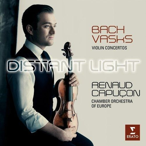 Pozostała muzyka rozrywkowa, BACH: VIOLIN CONCERTOS BWV 1041 & 1042; VASKS: DISTANT LIGHTS (VIOLIN CONCERTO) - DIGIPACK - Capucon, Renaud, Celine Frisch, Chamber Orchestra Of Europe (Płyta CD)