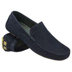 Mokasyny wsuwane buty BADURA 3171 Granatowe - Granatowy ||Niebieski