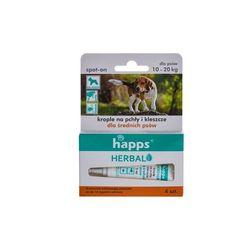 HAPPS Herbal - krople na pchły i kleszcze dla psów średnich ( do 20 kg)