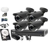 Zestawy monitoringowe, Zestaw do monitoringu: Rejestrator BCS-XVR0801, 4x Kamera LV-AL20HT, 1TB, akcesoria