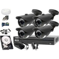 Zestaw do monitoringu: Rejestrator BCS-XVR0801, 4x Kamera LV-AL20HT, 1TB, akcesoria