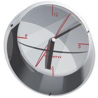 Zegary, Bugatti - Glamour zegar ścienny, chromowany