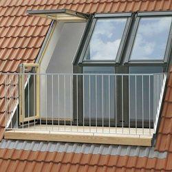 Balkon dachowy VELUX GEL 2165G MK08 78x136 element górny białe miedź