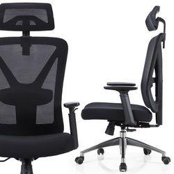 Fotel biurowy ergo NORDHOLD - SKADI - czarny