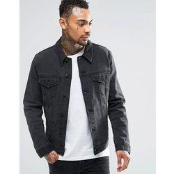 ASOS Denim 'Richard' Jacket In Washed Black - Black