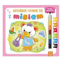 Książki dla dzieci, Koloruję i bawię się z misiem. Edukacyjna książeczka z naklejkami (opr. miękka)
