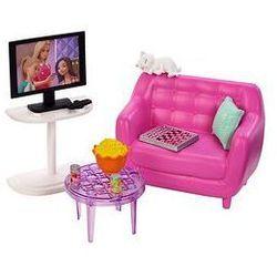 Barbie Mebelki do domku - wyposażenie Mattel (sofa/tv)