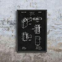 Plakaty, Plakat do pokoju Plakat do pokoju Zapalniczka Zippo Gimera Patent USA