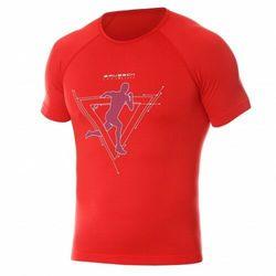 Koszulka męska Brubeck Running Air Pro SS13280 Czerwony