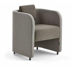 Fotel COMFY, na nogach, wełna, piaskowy/brązowy