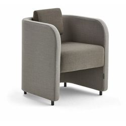 Fotel COMFY, na nóżkach, wełna, piaskowy/brązowy