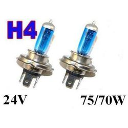 Żarówki (2szt.) H4 White Xenon H.I.D. do Ciężarówek... (24V - moc 70/75W) - Homologowane.