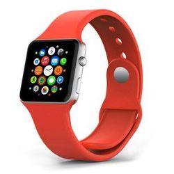 CZERWONY Sportowy silikonowy pasek do Apple Watch 38mm - Czerwony